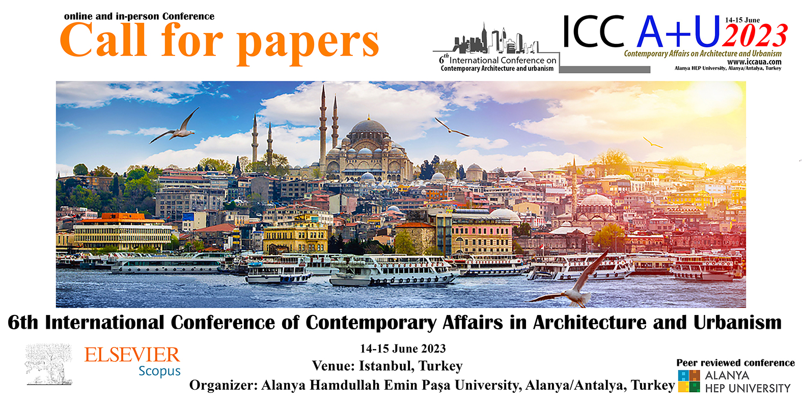 4th International conference of Contemporary Affairs on Architecture and Urbanism 2020 ICCAUA ALANYA HEP UNIVERSITY
